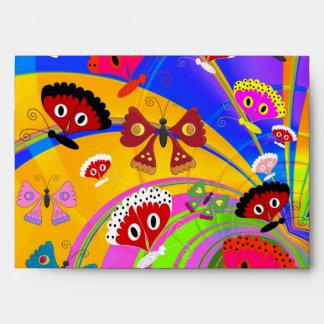 Mariposas coloridas del sobre