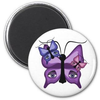 Mariposas coloridas del vigilante iman