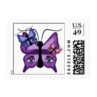 Mariposas coloridas del vigilante sello