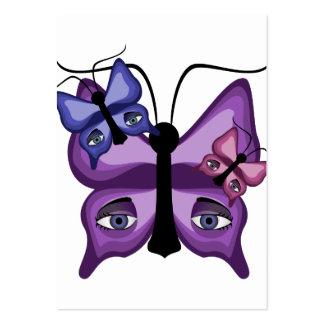 Mariposas coloridas del vigilante tarjetas de visita grandes