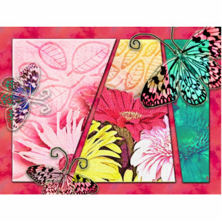Mariposas coloridas escultura fotografica