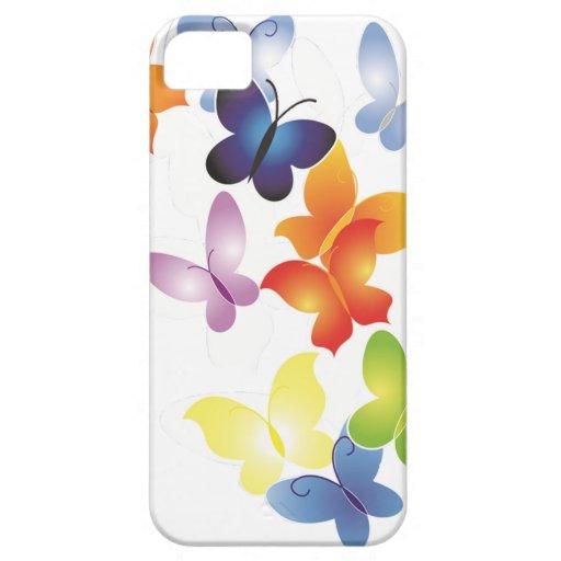 Mariposas coloridas iPhone 5 cárcasas