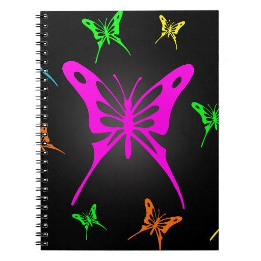 Mariposas coloridas libros de apuntes