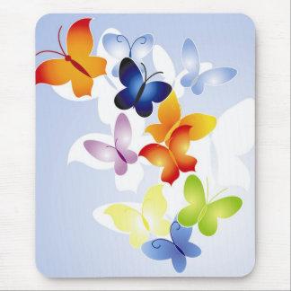 Mariposas coloridas mouse pad