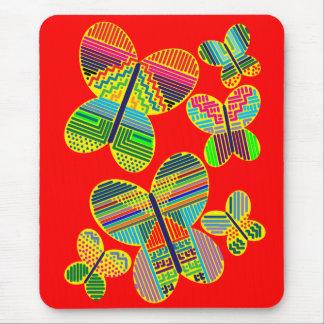 Mariposas coloridas mouse pads