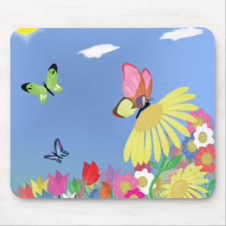 Mariposas coloridas tapete de raton
