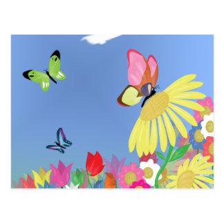 Mariposas coloridas postal