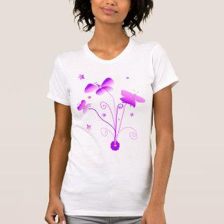 Mariposas con la camisa de la flor
