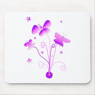 Mariposas con la flor Mousepads Tapete De Ratones