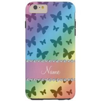 Mariposas conocidas personalizadas del arco iris funda para iPhone 6 plus tough