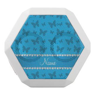 Mariposas conocidas personalizadas del azul de altavoces bluetooth blancos boombot REX