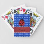 Mariposas conocidas personalizadas del azul de la  baraja cartas de poker