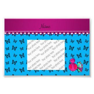 Mariposas conocidas personalizadas del azul de fotografía