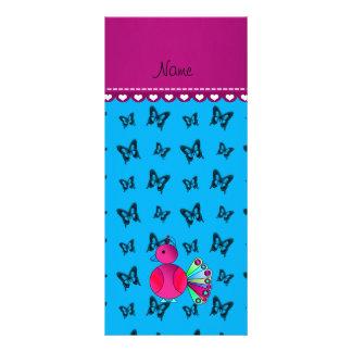 Mariposas conocidas personalizadas del azul de tarjeta publicitaria personalizada