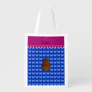 Mariposas conocidas personalizadas del azul del bolsas para la compra
