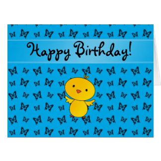 Mariposas conocidas personalizadas del azul del tarjeta de felicitación grande