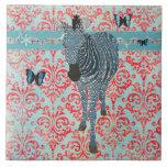 Mariposas de Boho y teja azules de la cebra