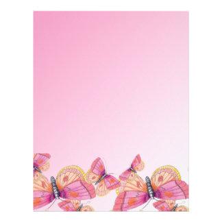 Mariposas de Bubblegum Plantillas De Membrete