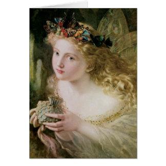 Mariposas de hadas hermosas, arte del Victorian Tarjeta De Felicitación