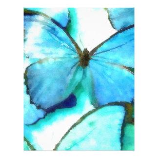 Mariposas de la aguamarina plantillas de membrete