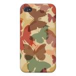 mariposas de la caída iPhone 4/4S carcasa