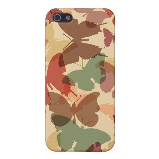 mariposas de la caída iPhone 5 protectores