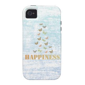 Mariposas de la felicidad vibe iPhone 4 fundas
