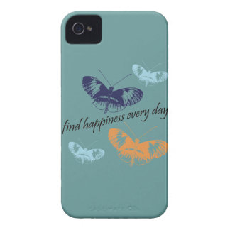 Mariposas de la felicidad Case-Mate iPhone 4 cárcasa