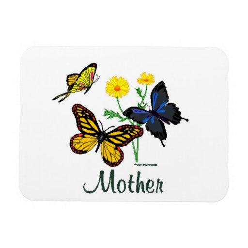 Mariposas de la madre imanes de vinilo