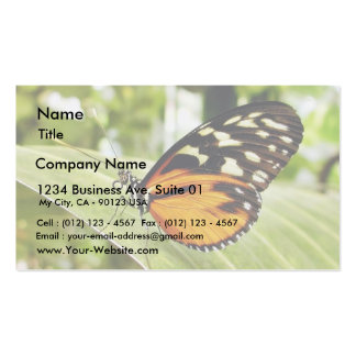Mariposas de la mariposa tarjeta de visita