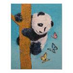 """Mariposas de la panda invitación 4.25"""" x 5.5"""""""