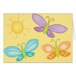 Mariposas de la primavera tarjetón