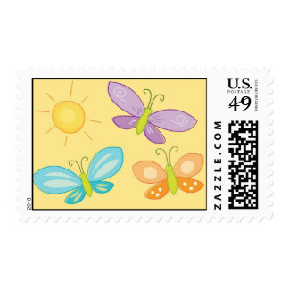 Mariposas de la primavera timbres postales