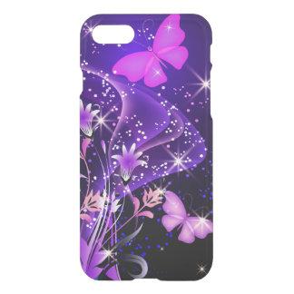 Mariposas de la púrpura de los pares funda para iPhone 7