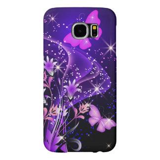 Mariposas de la púrpura de los pares fundas samsung galaxy s6