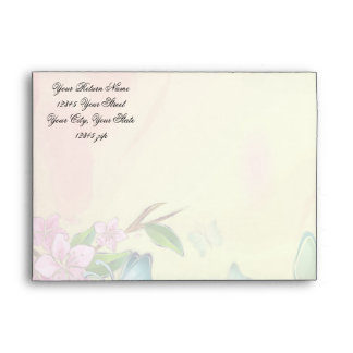 Mariposas de las flores de cerezo de la acuarela sobre