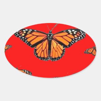Mariposas de Monaech, regalos rojos chinos por los Colcomanias Óval