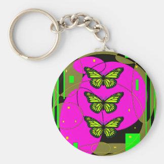 Mariposas de monarca amarillas por Sharles Llavero Personalizado