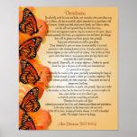 Mariposas de monarca de la prosa de los desiderátu póster