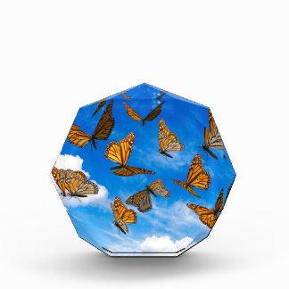 Mariposas de monarca en el cielo