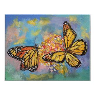 """Mariposas de monarca invitación 4.25"""" x 5.5"""""""
