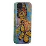 Mariposas de monarca iPhone 4 Case-Mate cárcasas