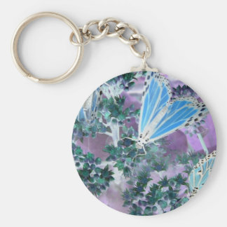 Mariposas de monarca llavero redondo tipo pin