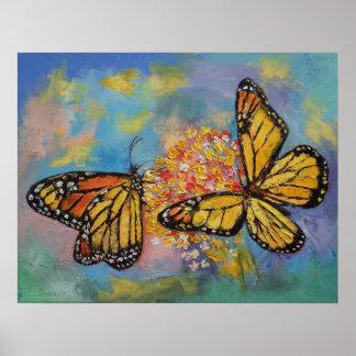 Mariposas de monarca posters