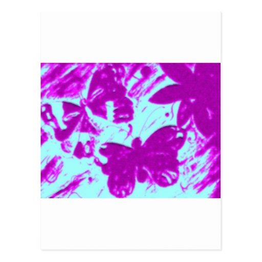 Mariposas de monarca tarjeta postal