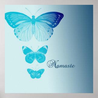 Mariposas de Namaste Posters