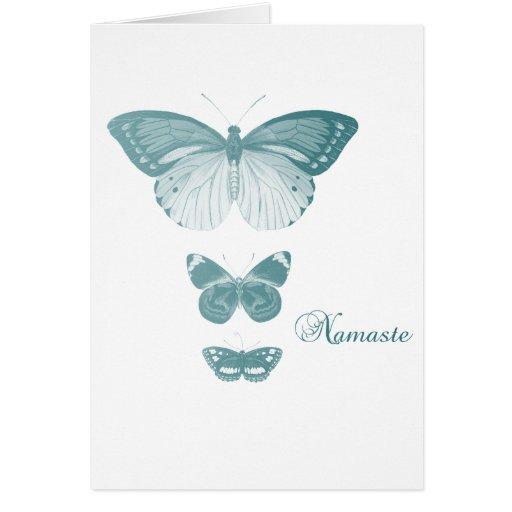 Mariposas de Namaste Tarjetas