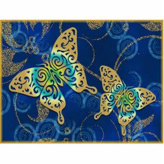 Mariposas de oro escultura fotográfica