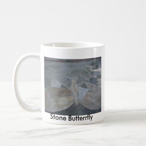 Mariposas de piedra - modificadas para requisitos taza básica blanca