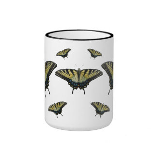 Mariposas de Swallowtail del tigre Taza A Dos Colores